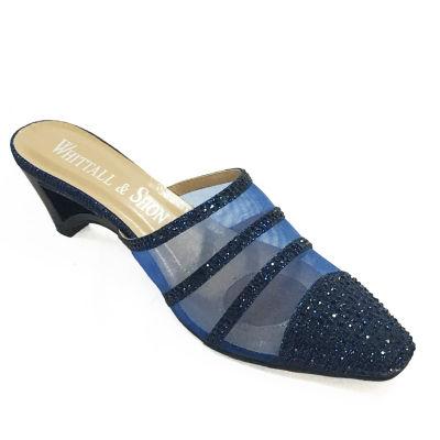 Whittall & Shon Womens Peek A Boo Slides Mules Slip-on Soft Toe
