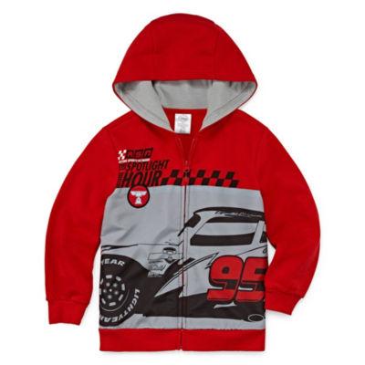 Disney Fleece Hooded Cars Midweight Jacket-Big Kid Boys