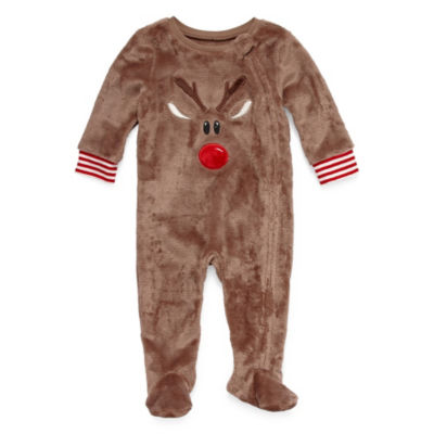 North Pole Trading Co. Long Sleeve Footed Pajamas-Baby Unisex
