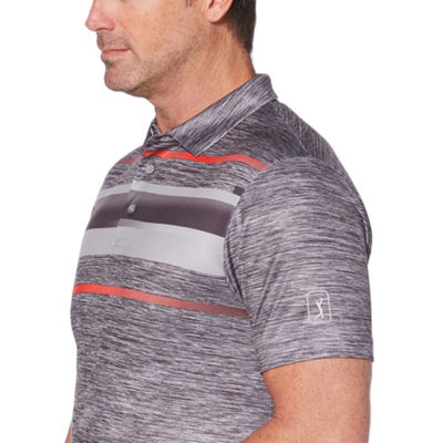 PGA TOUR Easy Care Short Sleeve Geo Linear Polo Shirt