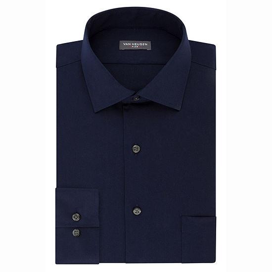 Van Heusen Flex Collar Stretch Long Sleeve Twill Dress Shirt