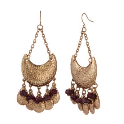 EL by Erica Lyons 6/25 El Plum Chandelier Earrings