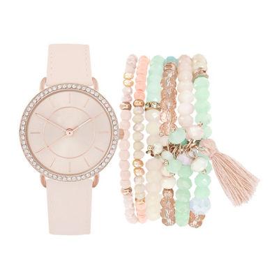 Womens Pink Bracelet Watch-St2153rg689-0aa