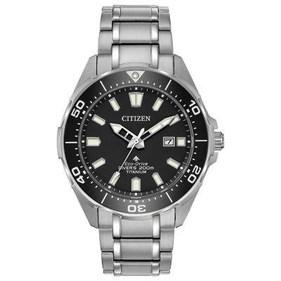 Citizen Mens Silver Tone Bracelet Watch-Bn0200-56e
