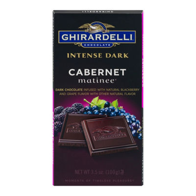 Ghirardelli Intense Dark Chocolate Cabernet Matinee - 3.5 oz - 12 Count
