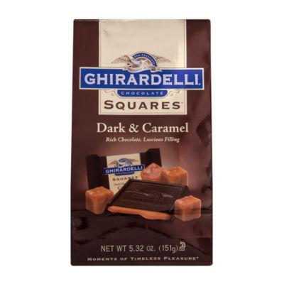 Ghirardelli Chocolate Squares Dark & Caramel - 5.32 oz - 3 Pack
