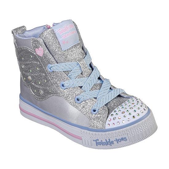 Skechers Twinkle Lite Girls Walking Shoes Lace-up - Little Kids/Big Kids