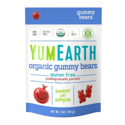 YumEarth Pomegranate Pucker Gummy Bears - 5 oz - 12 Count
