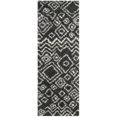 Safavieh Belize Shag Collection Jaki Geometric Runner Rug