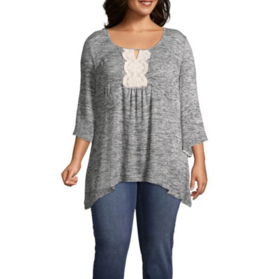 Unity World Wear Embroidered Flare Sleeve Tunic - Plus