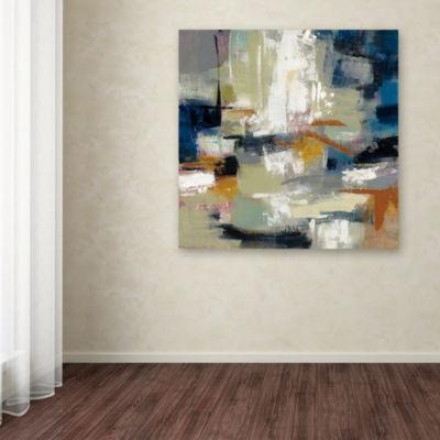 Trademark Fine Art Silvia Vassileva Full Moon II with White Giclee Canvas Art