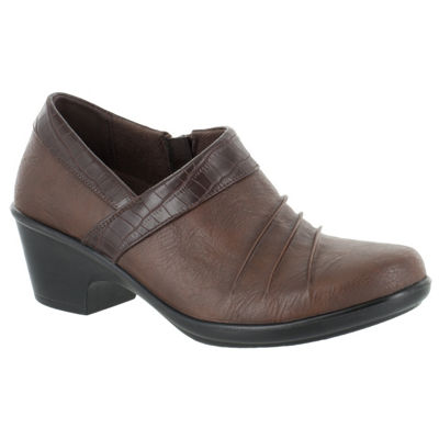 Easy Street Womens Dell Shooties Zip Round Toe