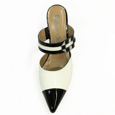 Whittall & Shon Womens Paris Mules Slip-on Pointed Toe