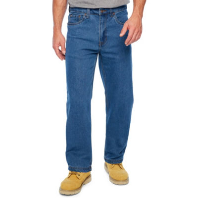 Smith Workwear Mens Mid Rise Stretch Straight Relaxed Fit Jean