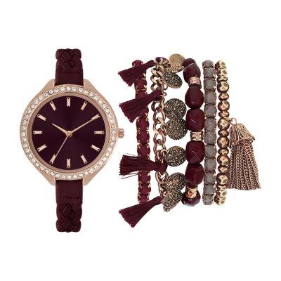 Womens Red Bracelet Watch-St2429rg689-752