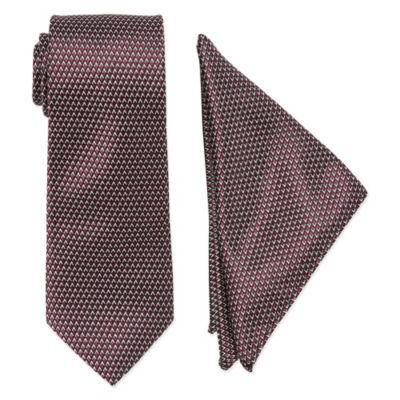 U.S. Polo Assn. Extra Long Geometric Tie Set