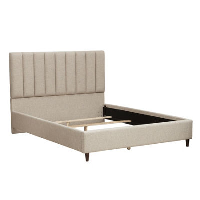 Vertical Channel Tufted Queen Bed