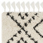 Safavieh Moroccan Fringe Shag Collection Alyx Geometric Runner Rug