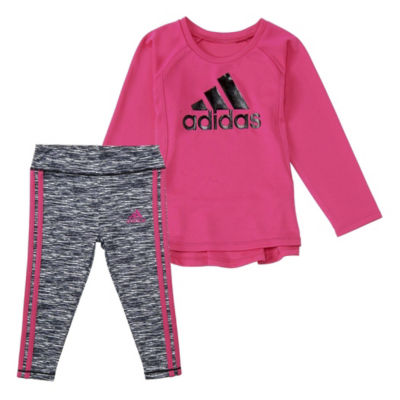 adidas 2-Pc. Legging Set-Baby Girls