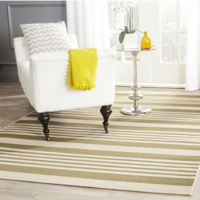 Safavieh Courtyard Collection Santos Stripe Indoor/Outdoor Area Rug