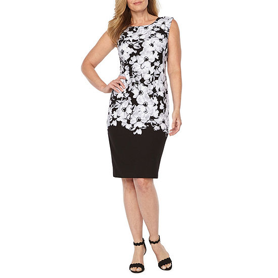 Liz Claiborne Cap Sleeve Floral Shift Dress