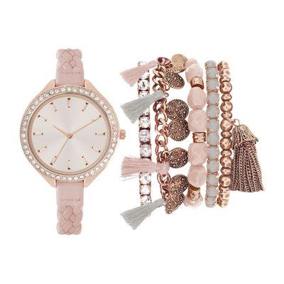 Womens Pink Bracelet Watch-St2445rg689-0aa