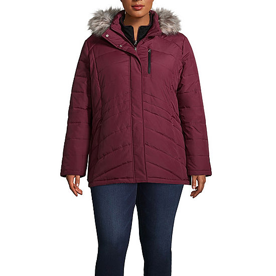 feb8d543c54 Free Country Hooded Water Resistant Heavyweight Puffer Jacket-Plus ...