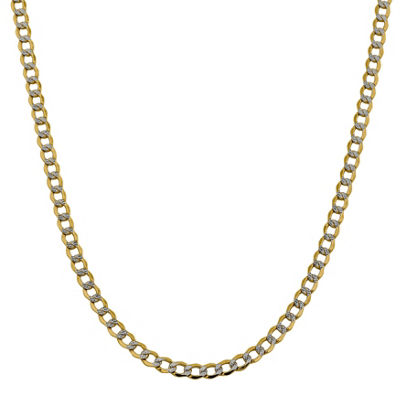 14K Gold Semisolid Curb 16 Inch Chain Necklace