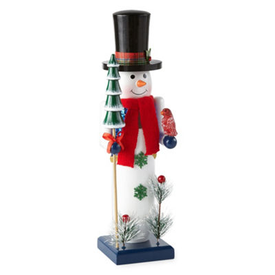 North Pole Trading Co. 14 Inch Snowman Nutcracker