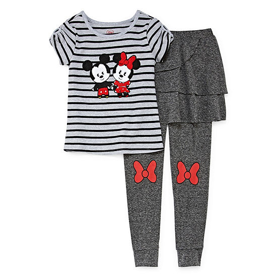 Disney Collection Girls 2-pc. Minnie Mouse Legging Set Preschool / Big Kid