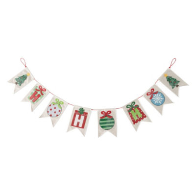 North Pole Trading Co. Ho Ho Ho Christmas Garland