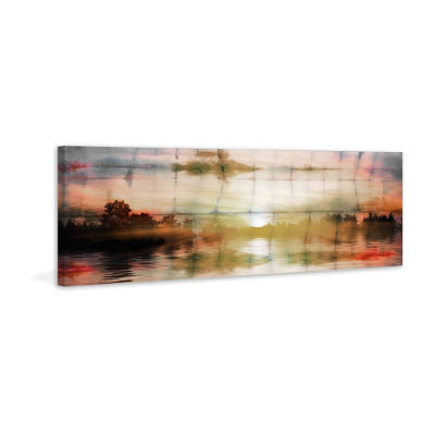 Painted Sunset Painting Print on Wrapped Canvas