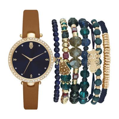 Womens Brown Bracelet Watch-St2454g689-Cgn