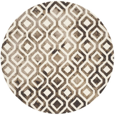 Safavieh Dip Dye Collection Lucian Geometric RoundArea Rug