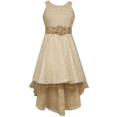 Bonnie Jean Short Sleeve Party Dress Girls Plus