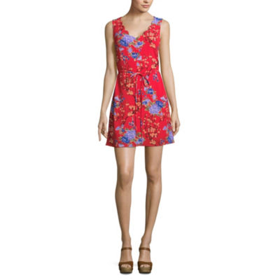 by&by Sleeveless Wrap Dress-Juniors