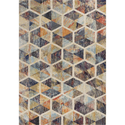 Kas Mediterra Prisms Rectangular Indoor Accent Rug