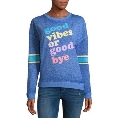 """Good Vibes or Goodbye"" Sweatshirt - Juniors"