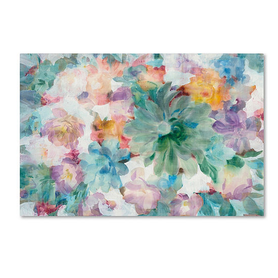 Trademark Fine Art Danhui Nai Succulent Florals Crop Giclee Canvas Art