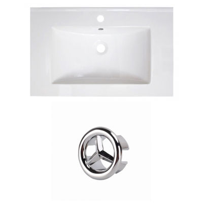 30-in. W 1 Hole Ceramic Top Set In White Color