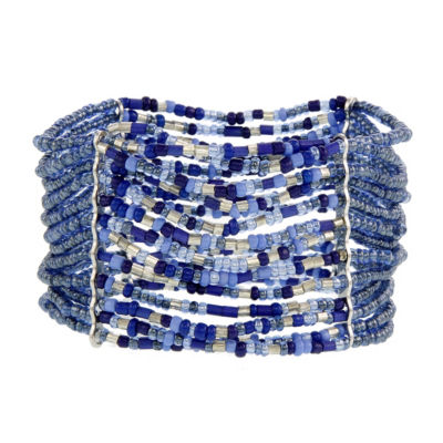 Mixit 5.25 Mixit Blue Womens Stretch Bracelet