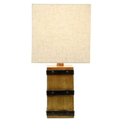Decor Therapy Campbell Square Barrel Accent Lamp