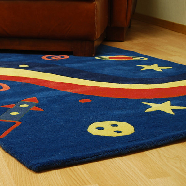 ST. CROIX TRADING Navy Playful Space Explorer Rug