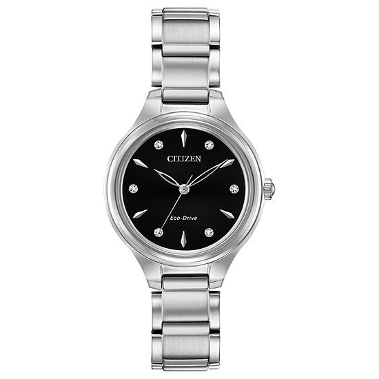 Citizen Corso Womens Diamond Accent Silver Tone Stainless Steel Bracelet Watch-Fe2100-51e