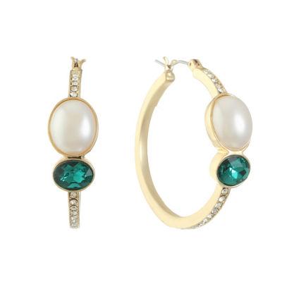 Gloria Vanderbilt 37.4mm Hoop Earrings
