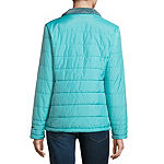 Free Country Reversible Water Resistant Fleece Lined Lightweight Puffer Jacket-Tall