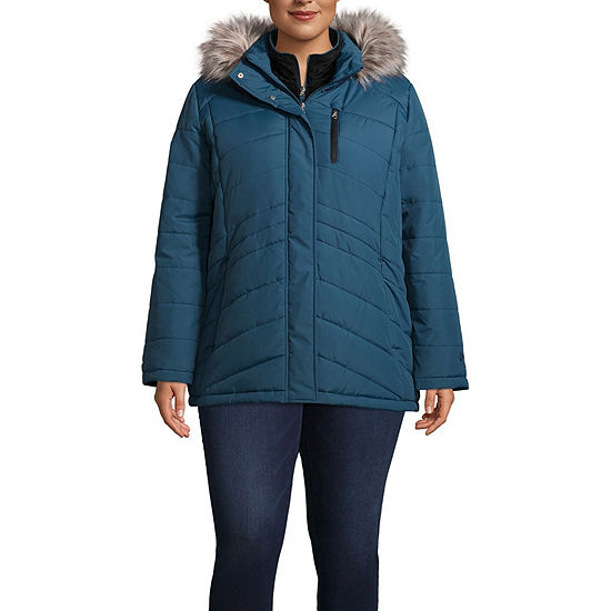 Free Country Hooded Water Resistant Heavyweight Puffer Jacket-Plus