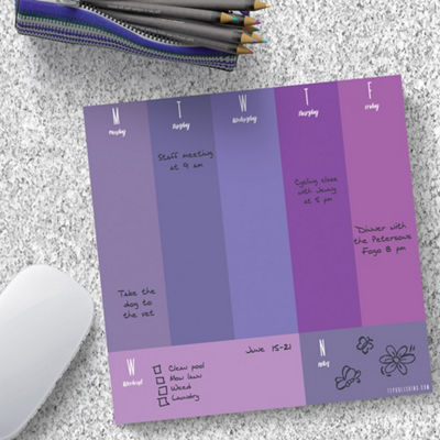 Tf Publishing Shades Of Violet Mouse Memo Pad
