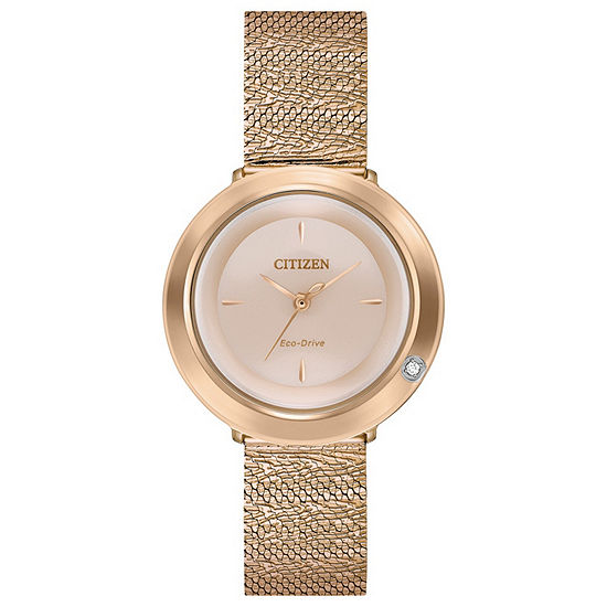 Citizen Womens Rose Goldtone Bracelet Watch-Em0643-50x