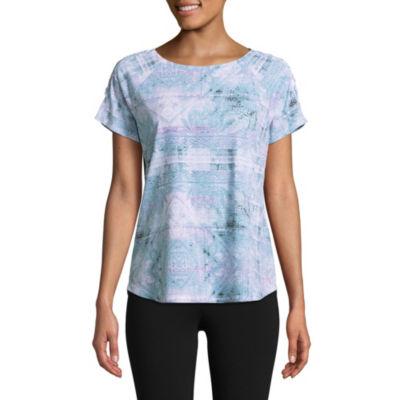 St. John's Bay Active Short Sleeve Round Neck T-Shirt-Womens